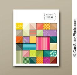 шаблон, квадрат, fabrics, красочный