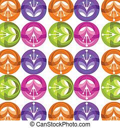 шаблон, красочный, иллюстрация, вектор, цветок, блестящий