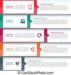 шаблон, современное, бизнес, infographics