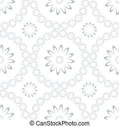 шаблон, цветочный, бесшовный, background., белый