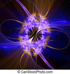 шаблон, lights., яркий, пылающий, компьютер, сетка, генерировать