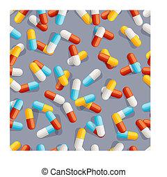 шаблон, pills, бесшовный
