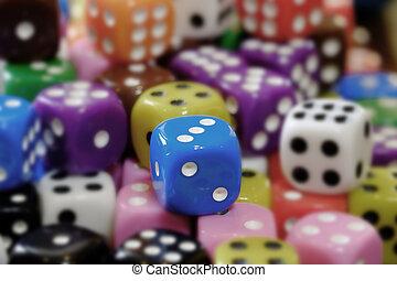 шанс, селективный, игральная кость, игорный, пятно, свая, playing, азартные игры, фокус, games