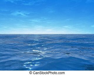 широкий, океан