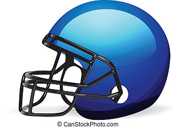 шлем, белый, футбол