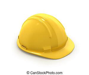 шлем, или, пластик, шапка, желтый, жесткий