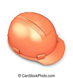 шлем, крупный план, строительство