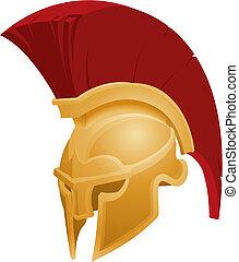 шлем, спартанский, иллюстрация