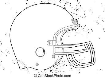 шлем, футбол