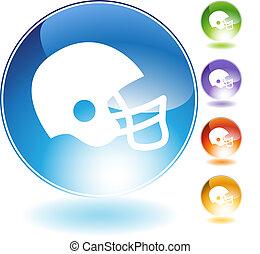 шлем, футбол, кристалл, значок