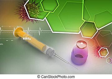 шприц, лекарственное средство