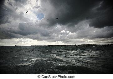 штормовой, пейзаж