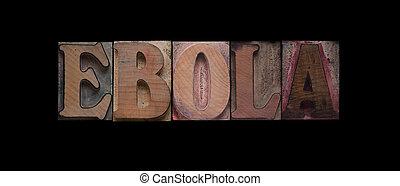 эбола, слово, дерево, старый, тип
