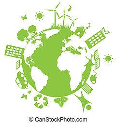 экологическая, зеленый, земля