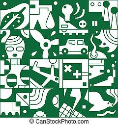 экология, -, бесшовный, задний план