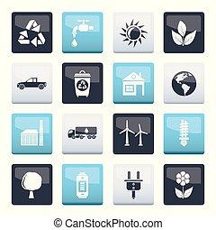 экология, задний план, над, цвет, окружающая среда, icons