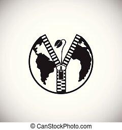 экология, мощность, глобальный, проблемы, задний план, белый