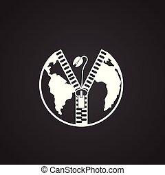 экология, мощность, глобальный, проблемы, черный, задний план