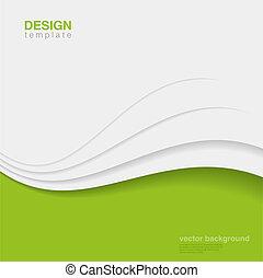 экология, vector., eco, абстрактные, творческий, дизайн, задний план