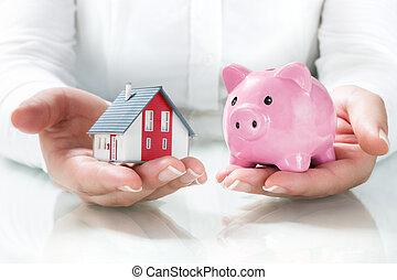 экономия, ипотека, концепция