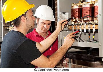 электрик, профессиональное, обучение, -
