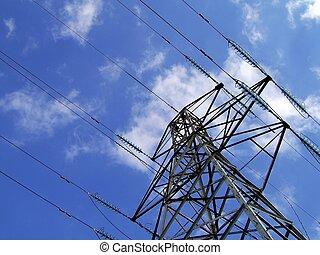 электричество, башня, пилон, /