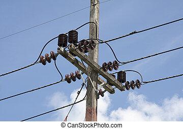 электричество, столб
