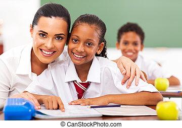 элементарный, students, школа, воспитатель