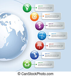 энергия, зеленый, infographics
