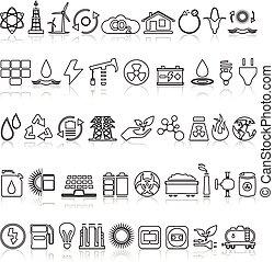энергия, icons, линия