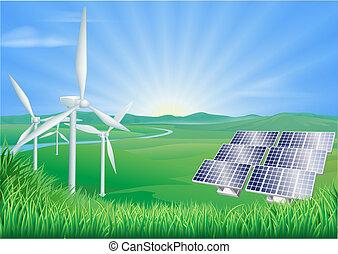 энергия, renewable, иллюстрация