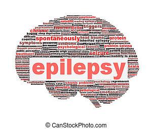 эпилепсия, символ, концепция, isolated, белый