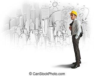 эскиз, архитектор