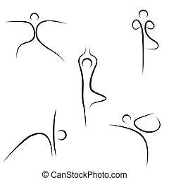 эскиз, йога