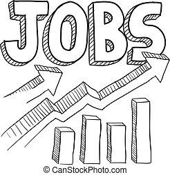 эскиз, повышение, jobs