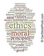 этика, слово, principles, облако