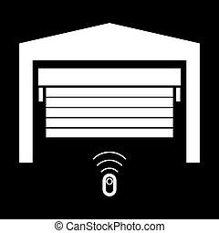 это, дверь, значок, белый, цвет, гараж