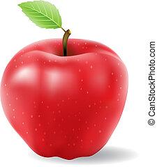 яблоко, красный