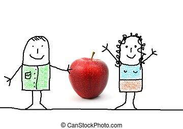 яблоко, подарок