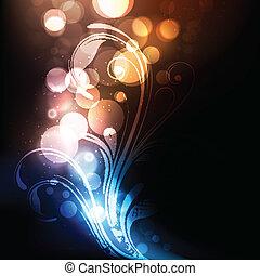 яркий, абстрактные, красочный, яркий, вектор, задний план