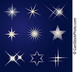 яркий, задавать, число звезд: