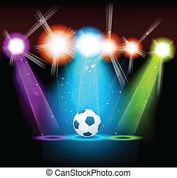 яркий, мяч, задний план