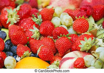 яркий, fruits