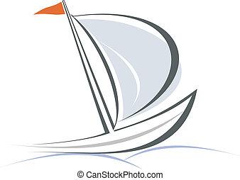 яхта, парусная лодка