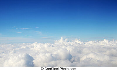 -, атмосфера, clouds, задний план, небо