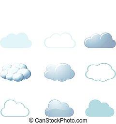 -, погода, clouds, icons
