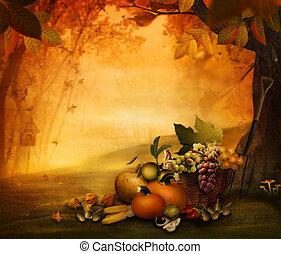 -, фрукты, время года, осень, дизайн