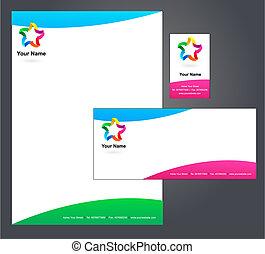 -, 5, печатный бланк, логотип, дизайн