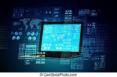 01, интернет, концепция, сервер