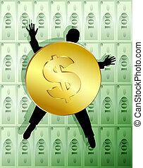 1, деньги, аллегория